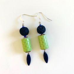 Boucles d'Oreilles Blue Green