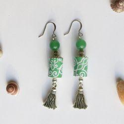 Boucles d'Oreilles Green Green